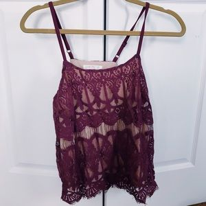 Lacey Purple Tank Top
